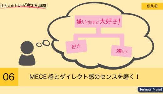 ピラミッドストラクチャー作成のコツ MECE感とダイレクト感!